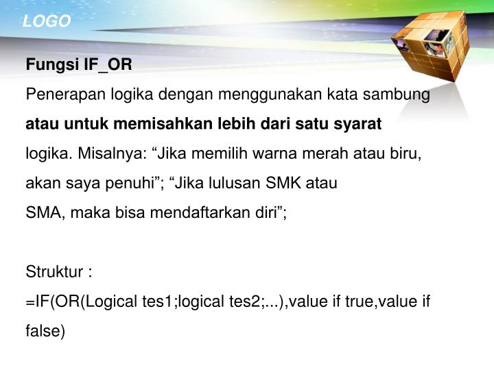 Fungsi IF_OR