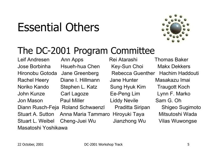 The DC-2001 Program Committee