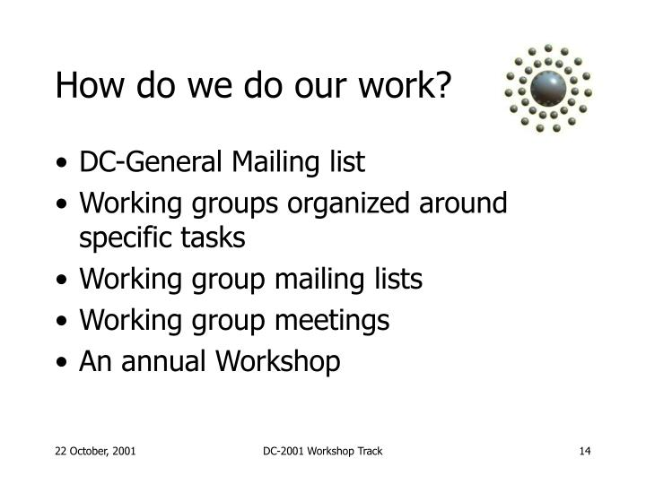 How do we do our work?