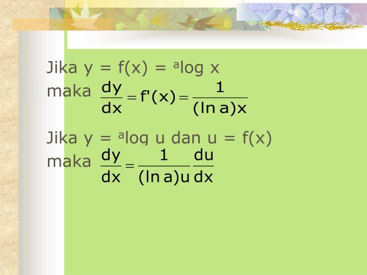 Jika y = f(x) =