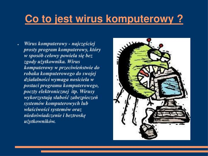 Co to jest wirus komputerowy ?