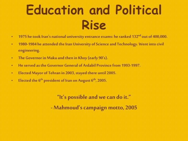 Education and Political Rise