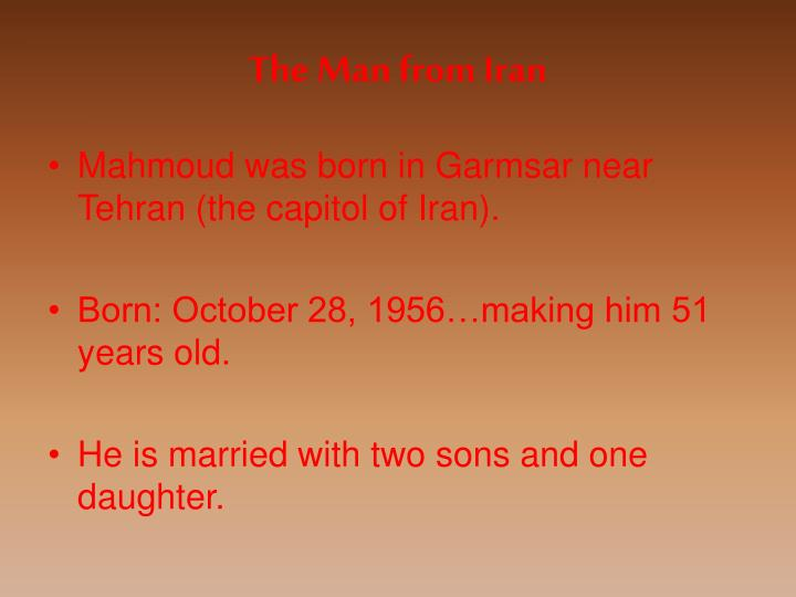 The Man from Iran