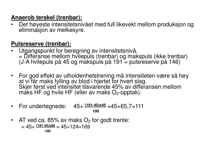 Anaerob terskel (trenbar):