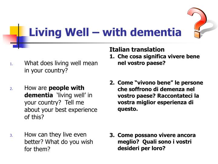 Living Well – with dementia