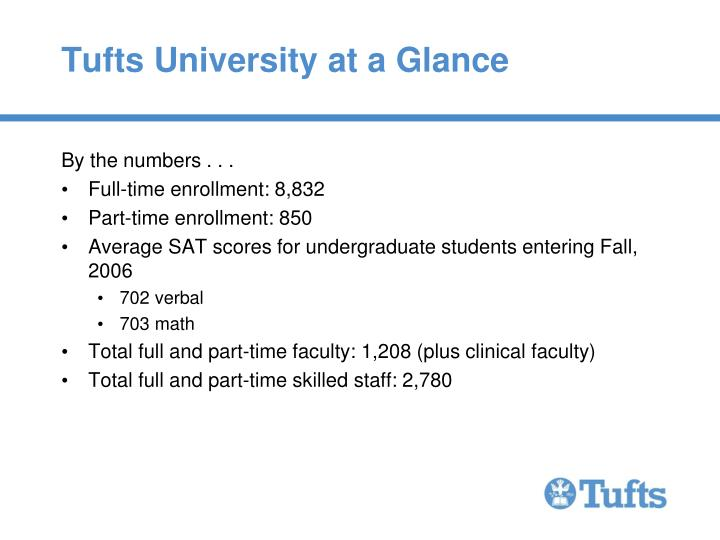 Tufts university at a glance1