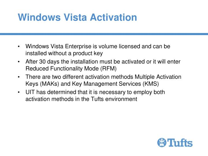 Windows Vista Activation