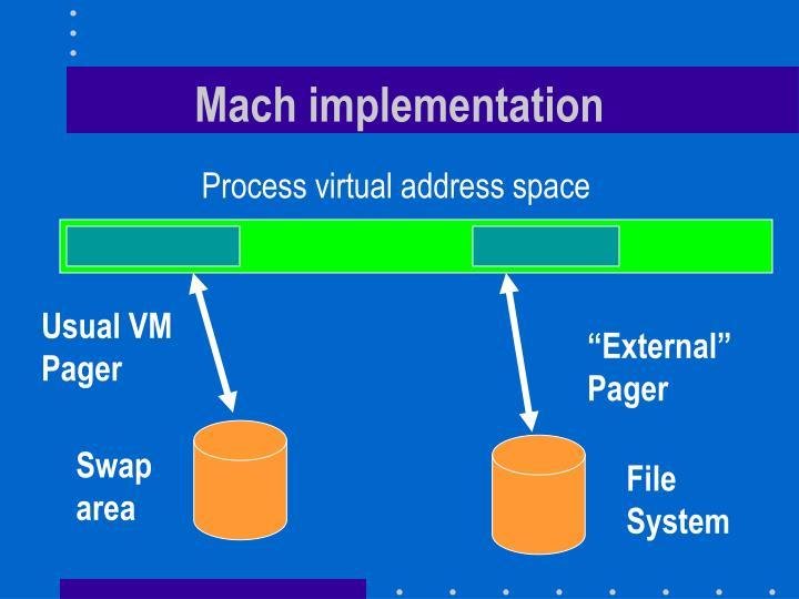 Mach implementation