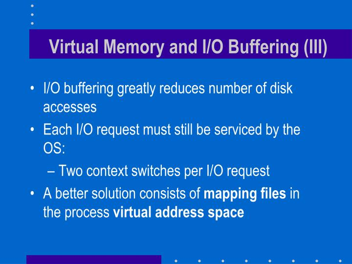 Virtual Memory and I/O Buffering (III)