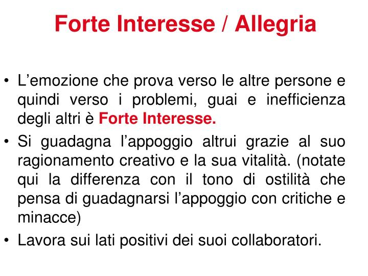 Forte Interesse / Allegria