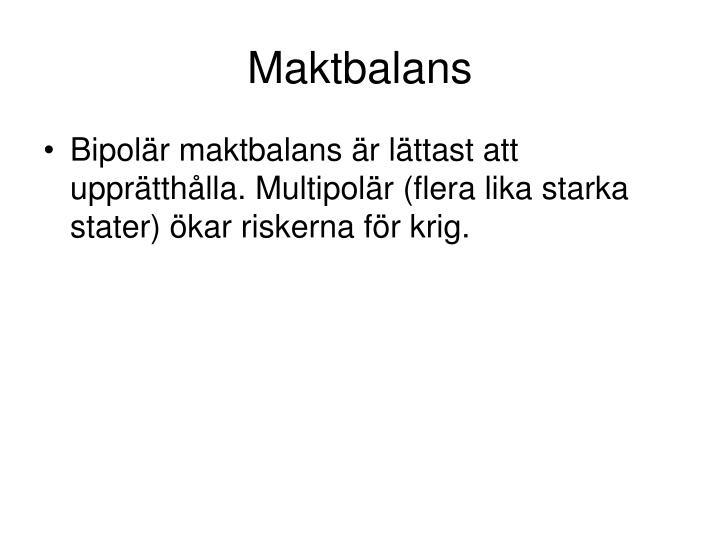 Maktbalans