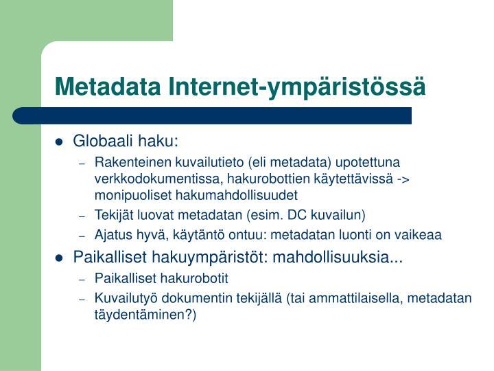 Metadata Internet-ympäristössä