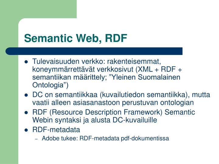 Semantic Web, RDF