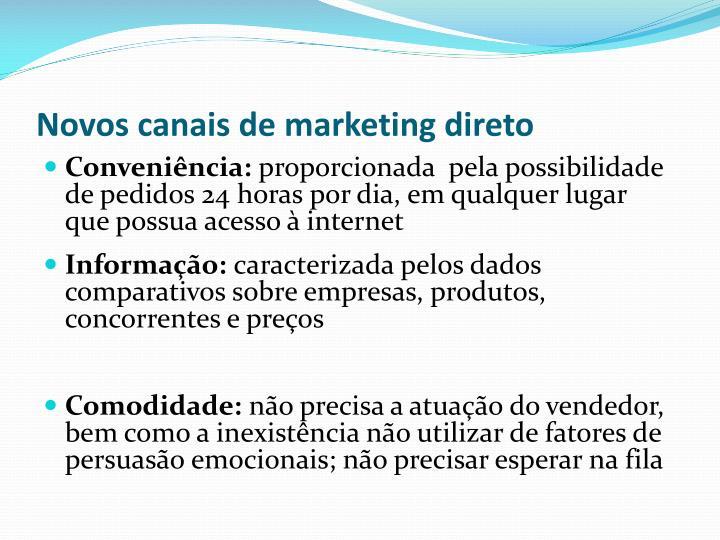 Novos canais de marketing direto