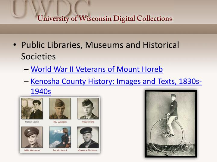 Public Libraries, Museums and Historical Societies