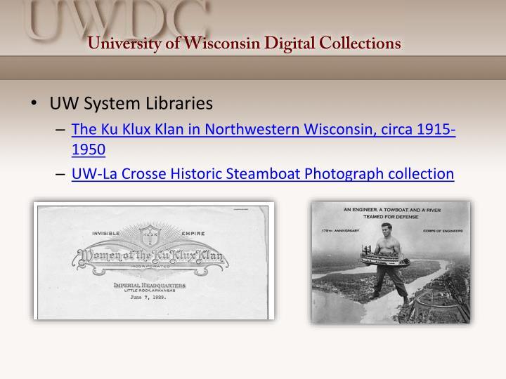 UW System Libraries