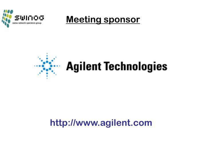 Meeting sponsor