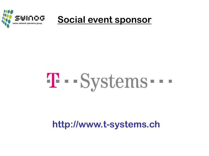 Social event sponsor