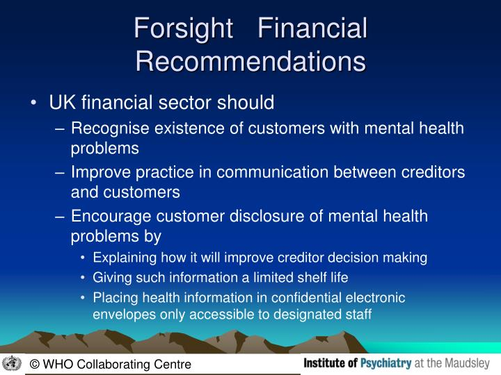 Forsight   Financial  Recommendations