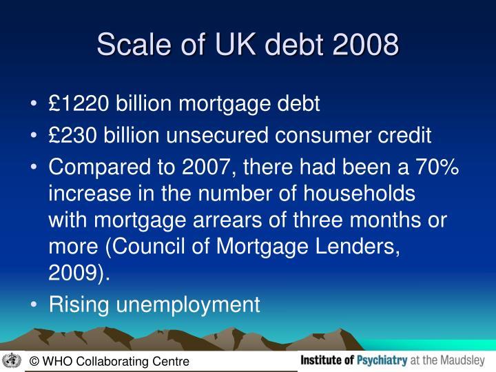 Scale of UK debt 2008