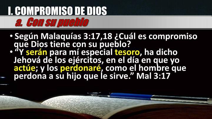 I. COMPROMISO DE DIOS