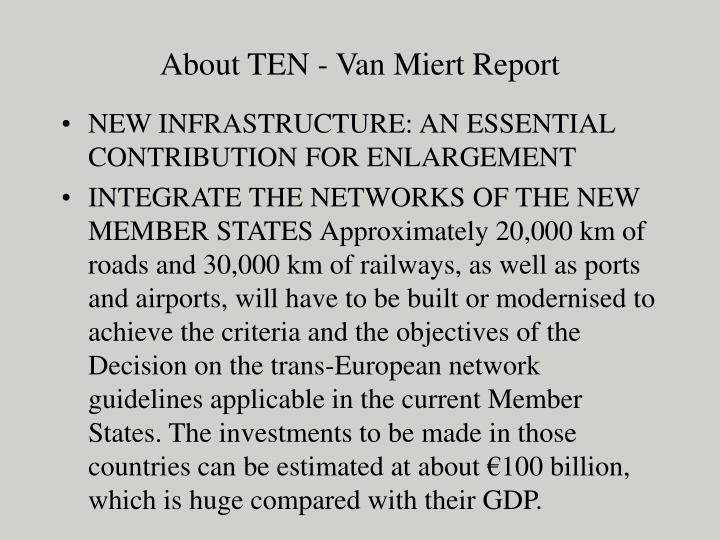About TEN - Van Miert Report