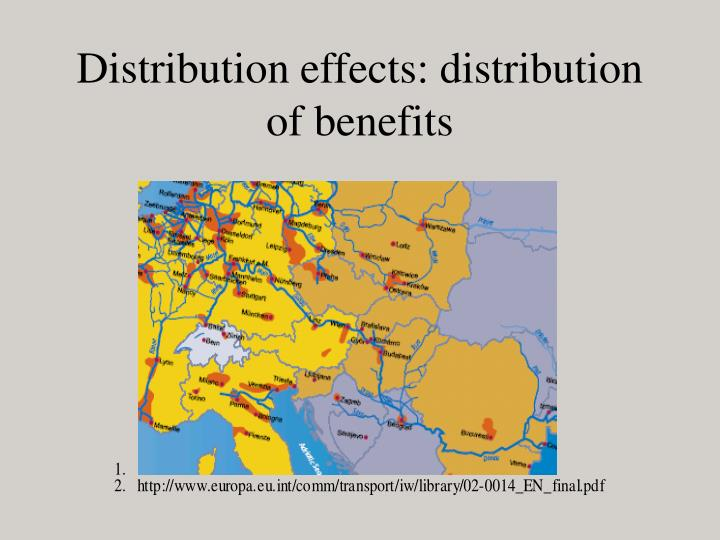 Distribution effects: distribution of benefits