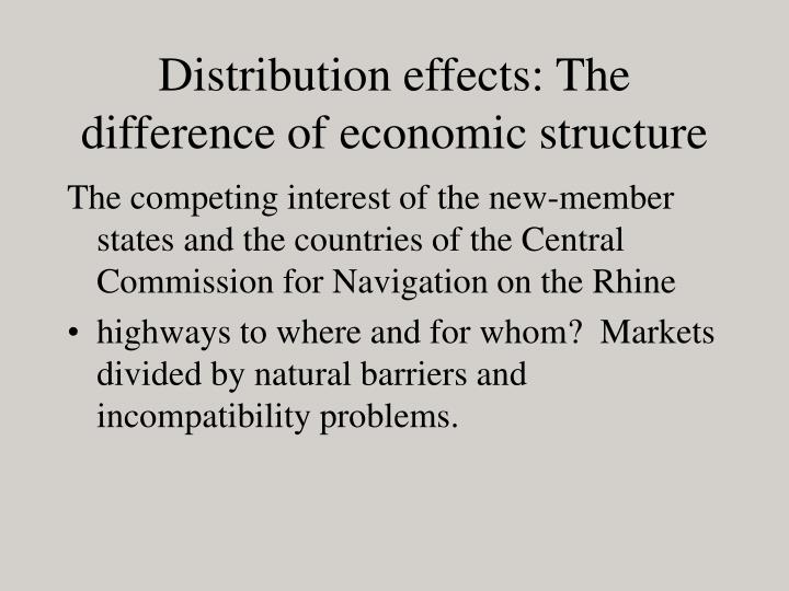 Distribution effects: