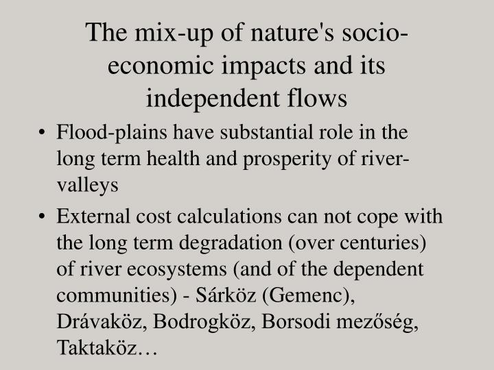 The mix-up of nature's socio-economic impacts and its independent flows