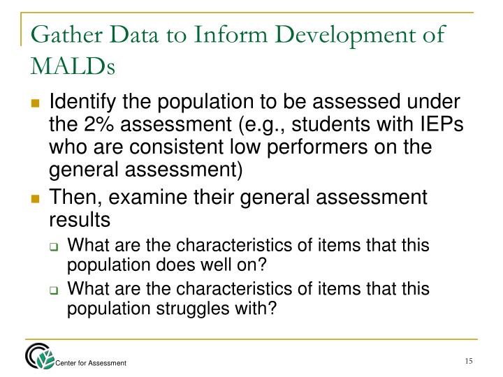 Gather Data to Inform Development of MALDs