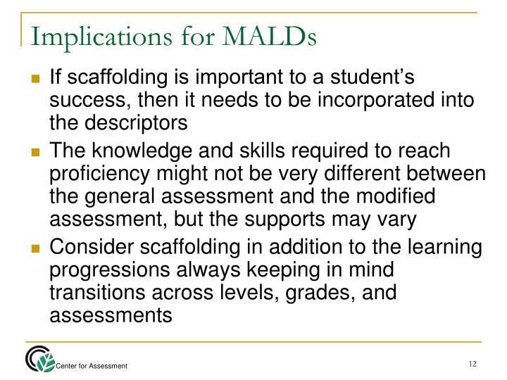 Implications for MALDs