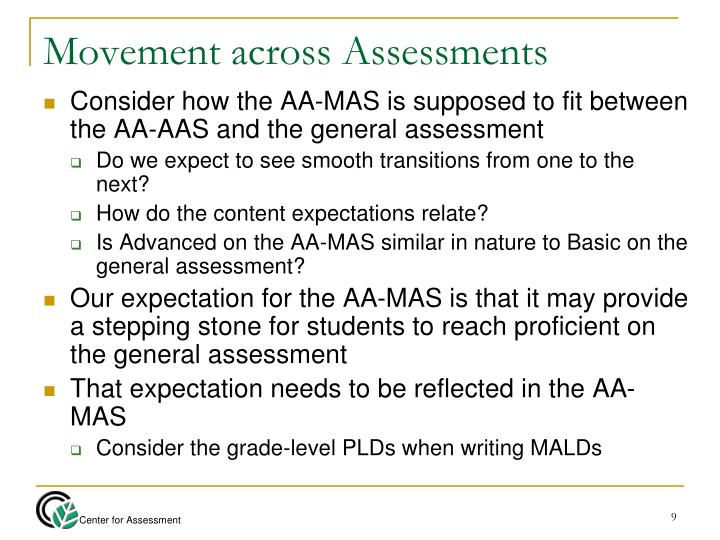 Movement across Assessments