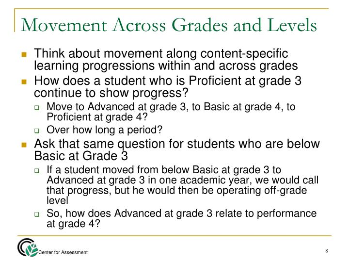 Movement Across Grades and Levels
