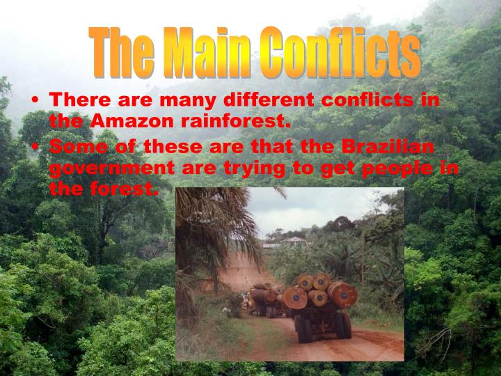 The Main Conflicts