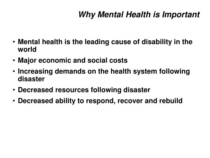 Why Mental Health is Important