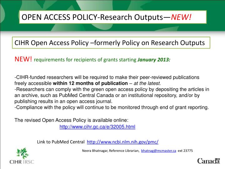 OPEN ACCESS POLICY-Research
