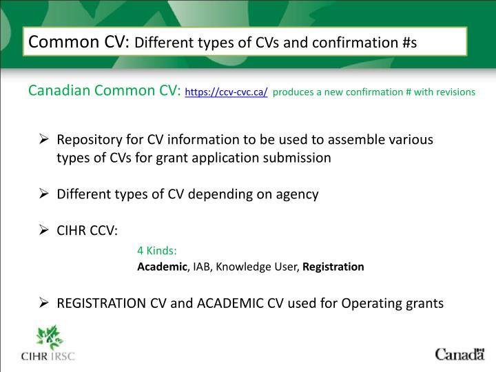 Common CV:
