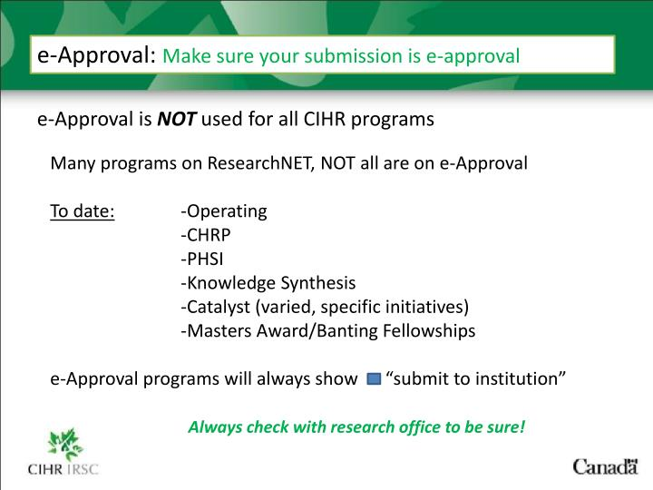 e-Approval:
