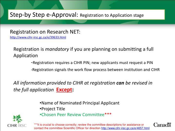Step-by Step e-Approval: