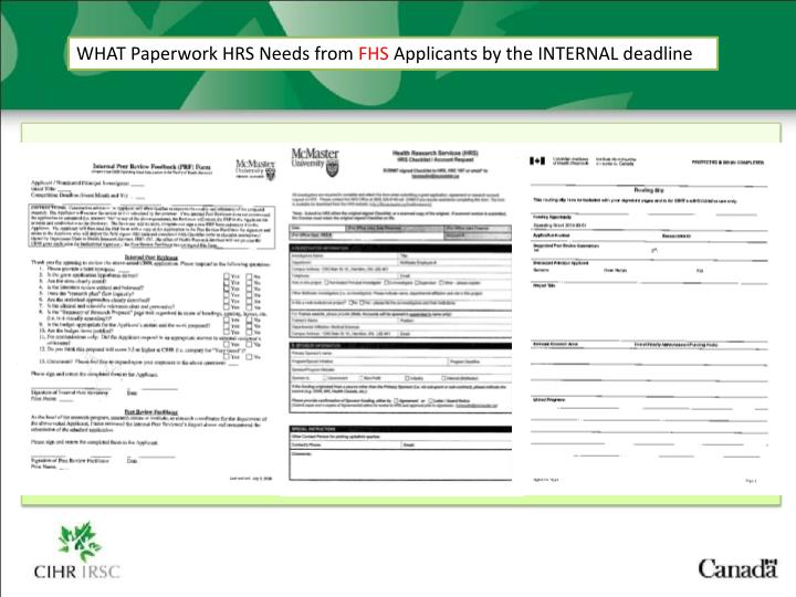 WHAT Paperwork HRS Needs from