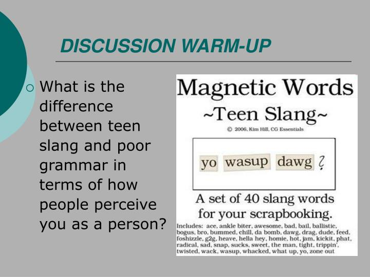 DISCUSSION WARM-UP
