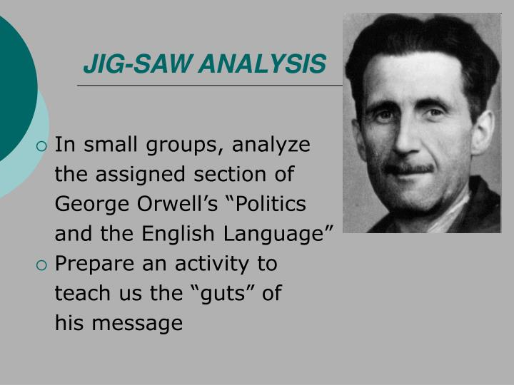JIG-SAW ANALYSIS