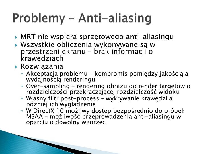 Problemy – Anti-aliasing