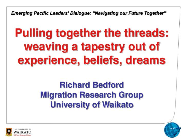 "Emerging Pacific Leaders' Dialogue: ""Navigating our Future Together"""