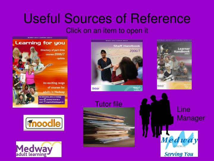 Useful Sources of Reference