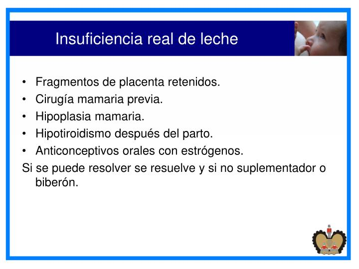 Insuficiencia real de leche