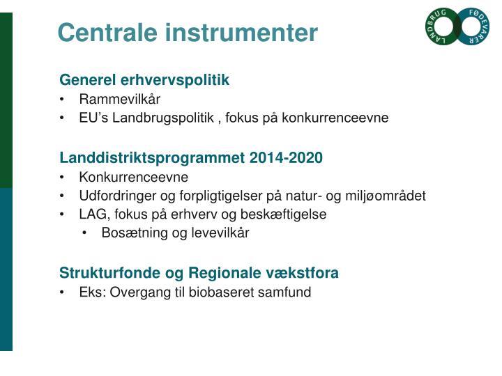 Centrale instrumenter