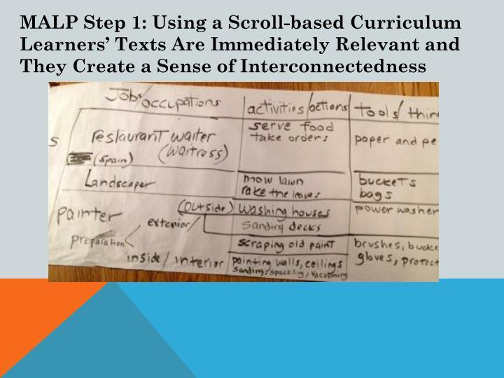 MALP Step 1: Using a Scroll-based Curriculum