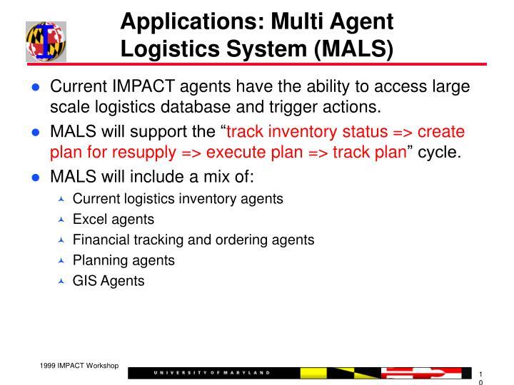 Applications: Multi Agent