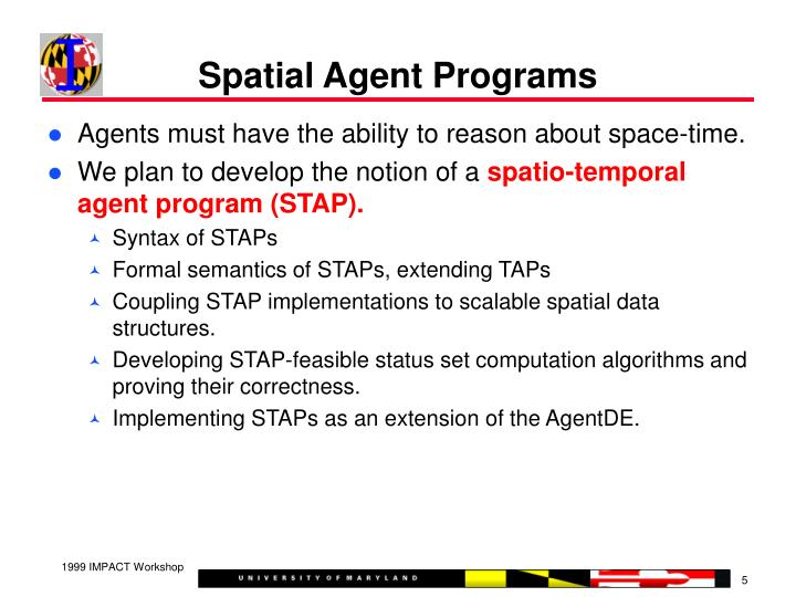 Spatial Agent Programs